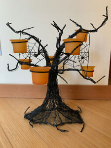 Pottery Barn Spooky Tree Table Votive Candle Holder Halloween Decoration