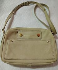Marc By Marc Jacobs Preppy Leather Crossbody Bag Purse Ivory/pebble