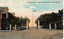 Early 1900's Entrance to Ft. Sam Houston in San Antonio, TX Texas PC