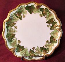 ANTIQUE Gorgeous AVENIR LIMOGES FRANCE Cabinet Plate HEAVY GOLD