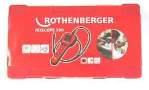 NEW Rothenberger ROSCOPE 500 Digital Drain Inspection Camera w/Case