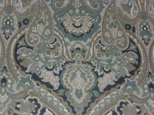 POTTERY BARN MCKENNA BLUE GRAY PAISLEY FULL/QUEEN SIZE DUVET COVER