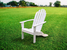 White Adirondack Chair Solid Wood Wooden Patio Furniture Outdoor Chairs Seating