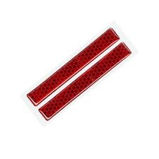 AMON V739 Universal Car Safety Bumper Door Guard Side Reflector Red - 2 Piece