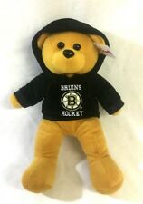 NHL Boston Bruins Plush Teddy Bear with Hoodie Sweatshirt 10 Inch Size FREESHIP
