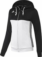 adidas Ladies T16 Climalite Hoodies Womens Sports Full Zip Hooded Jacket Black - Aj5414 M