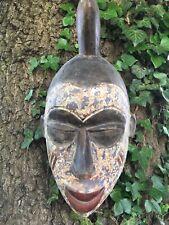 LARGE DECORATIVE CARVED OLD TRIBAL 'AFRICAN' HORNED MASK
