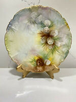 J P L Jean Pouyat Limoges France Hand Painted Signed Plate Pine Cones 9 1/2""