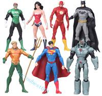 """7pcs Action Figure Toy DC Justice League 7"""" Superman/Batman/Flash/Wonder woman"""