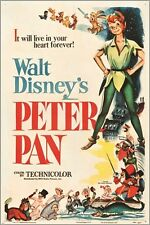 PETER PAN (RKO 1953) vintage movie poster WALT DISNEY musical KIDS 24X36 new