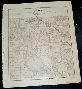 1884 OTTER TAIL COUNTY MAP MINNESOTA Dane and Prairie and Tumuli Townships