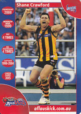TEAMCOACH AFL AMBASSADOR CARD HAWTHORN CRAWFORD no 2017 certified of influential