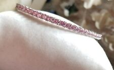 QVC Epiphany sterling silver Pink Diamonique DQCZ tennis eternity bangle braclet