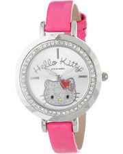 Hello Kitty Girl's HK1390 Analog Display Quartz Pink Watch Stone Bezel