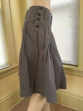 OILILY Gray Pleated Skirt Buttons on Sides EUR 36 US 6 Excellent condition!!!