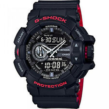CASIO G-SHOCK, GA400HR-1A GA-400HR-1A, ANALOG DIGITAL, BLACK x RED