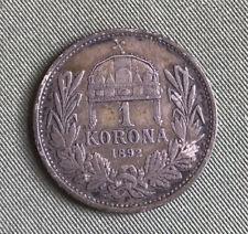 HUNGARY 1 Korona 1892 KB Silver Franz Joseph I VF