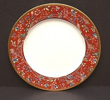 """Christian Dior Tapisserie Chop Plate Round Serving Platter tray 12-1/4"""" Red Gold"""