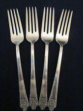Set 4 Dinner Forks! Vintage Rogers silverplate: Precious pattern: Excellent!