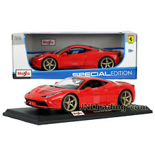 Maisto Special Edition 1:18 Scale Die Cast Car Red FERRARI 458 SPECIALE w/ Base