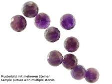 2x Amethyst - facettierte Kugeln 8 mm violett, durchbohrt /4095s