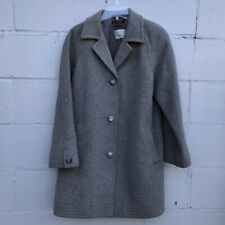 Vintage Norm Thompson Gray Peacoat Wool Blend Made in England Size 6 US Womens