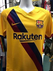 Nike Fc Barcelona Away soccer jersey Yellow Stadium 2019-20 Size S Men's Only