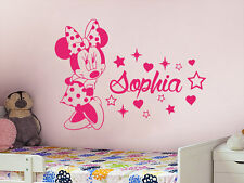 Wall Stickers custom baby name Minnie mouse heart vinyl decal decor Nursery kids