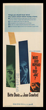 WHAT EVER HAPPENED TO BABY JANE? ☆ '62 ORIGINAL 14x36 MOVIE POSTER ☆ BEST IMAGE