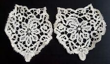 Antique Victorian Lace - Handmade Floral Crochet Badges Embroidery Patches