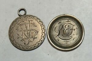1884 1890 SEATED DIME LOVE TOKENS