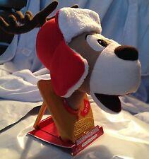 """Ronnie the Reindeer"" Hallmark Holiday Motion-Activated SingingTalking Deer Head"