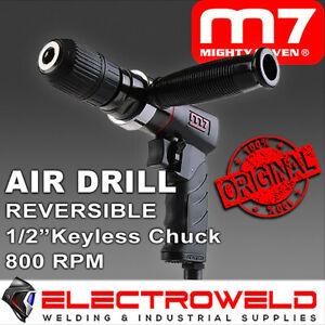 "M7 Air Drill 1/2"" Keyless Chuck Reversible Pneumatic Q-Series Mighty 7 M7-QE841"