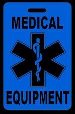 Hi-Viz Blue Medical Equipment Carry-On Bag Tag - CPAP BiPAP APNEA POC