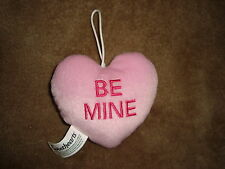 Sweethearts NECCO Plush Hanging Valentines Day Heart Pillow BE MINE