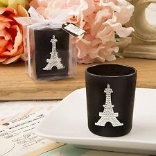 50 Paris With Love candle votive EiffelTower Wedding Favors Bridal Shower favor