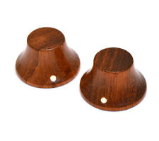 PK-3197-0B0 (2) Bubinga Bell Knobs for Guitar/Bass for 6mm Split Shaft