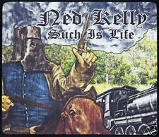 1 x NED KELLY SUCH IS LIFE & OLD STEAM TRAIN,  MOUSE MAT OR SMALL TABLE MAT