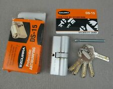 High Security Lock Cylinder Bulb EZCURRA DS-15 with 5 keys and a card. 70mm