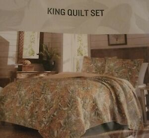 Tommy Bahama Topical Quilt Set, King