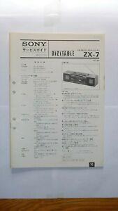 SONY ZX-7 Stereo Radio Cassette Original Service Manual