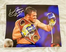 Vasyl Lomachenko signed Boxing 16x20 PHOTO PROOF WBO Champion Hi-Tech ESPN Linar