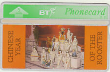 BT General 109 Chinese New Year, Rooster, Group of Figures, Mint phonecard