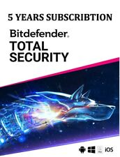 5 Years Bitdefender Total Security 2020 (internet security anti virus)
