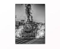 Eisenbahn Lokomotive gerahmt XXL Bild auf Leinwand moderne Wanddekoration