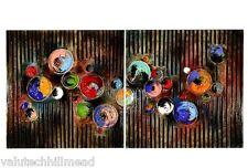 Home Essence Paint Pots Abstract 2 pièces art graphique sur toile Set