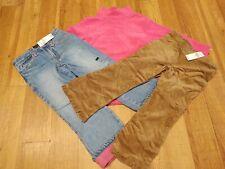 Childrens Place Lot 3 Pcs Girls Size 4 Jeans Corduroy Pants Fleece Top Nwt