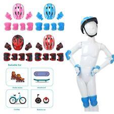 7Pcs Kids Protective Gear Set Adjustable Helmet with Knee Wrist Guard Elbow Pad