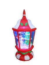6 Foot Christmas LED Inflatable Lantern Snowman & X'mas tree Outdoor Decoration