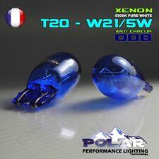 2 AMPOULE POLAR XENON T20 W21/5W 7443 PLASMA WHITE 5000-6000K FEUX DE JOUR